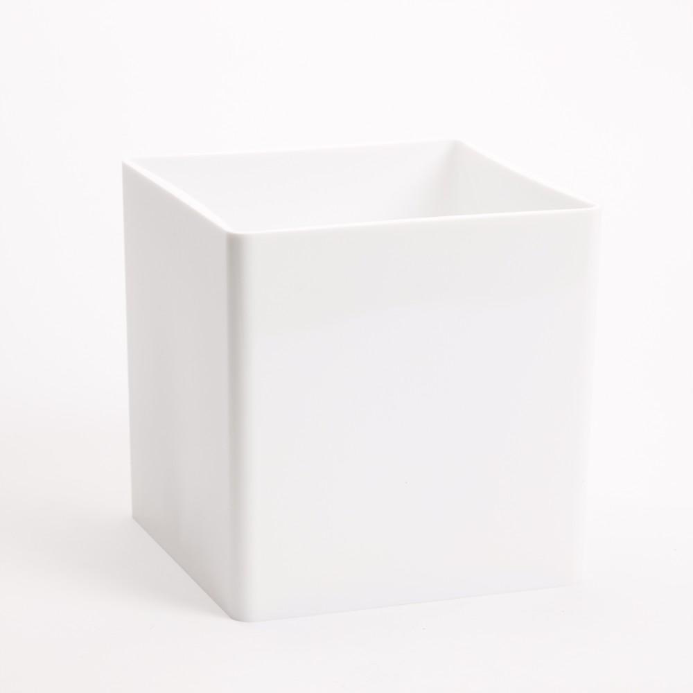 Plastic vases pots trays bowls oasis home hobby acrylic cube white 15cm x 15cm x 15cm reviewsmspy