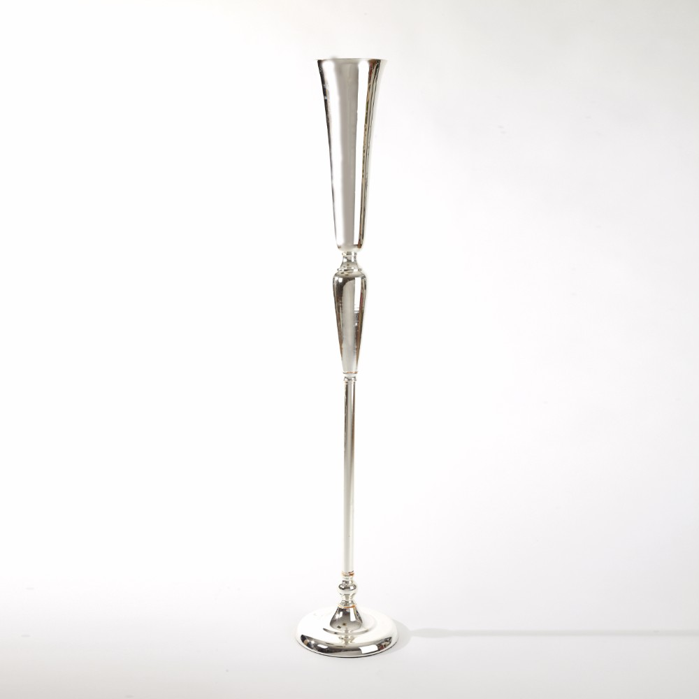 Silver Trumpet Stand  22cm x 22cm x 119cm