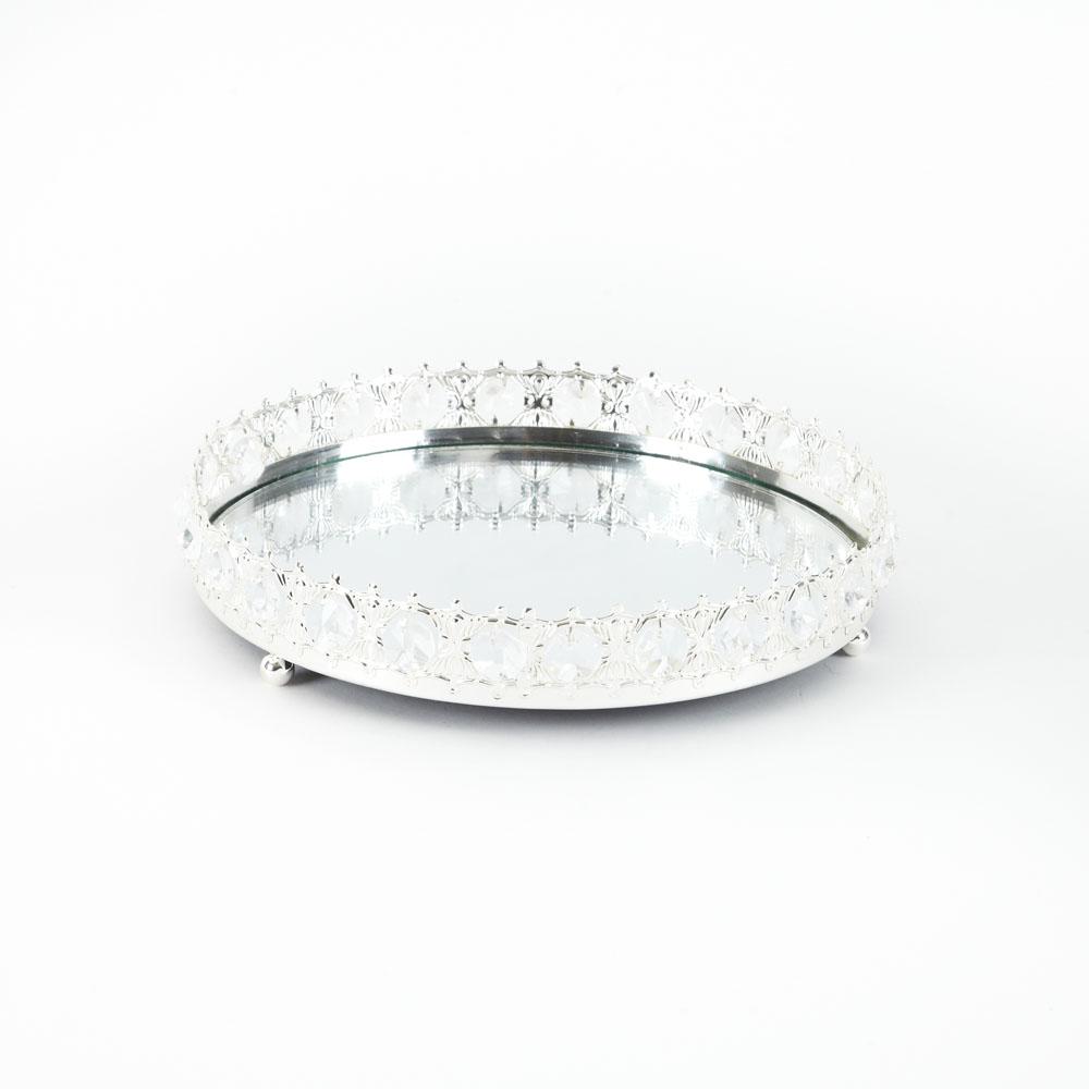 Silver  & Crystal Tray  25cm x 25cm x 7.5cm