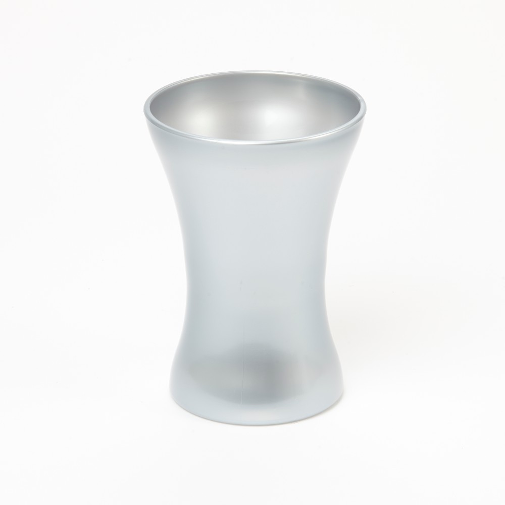 Acrylic Vase  Silver  20cm