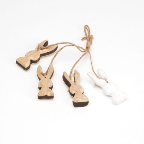 Wooden Bunny Hangers - 4 pieces