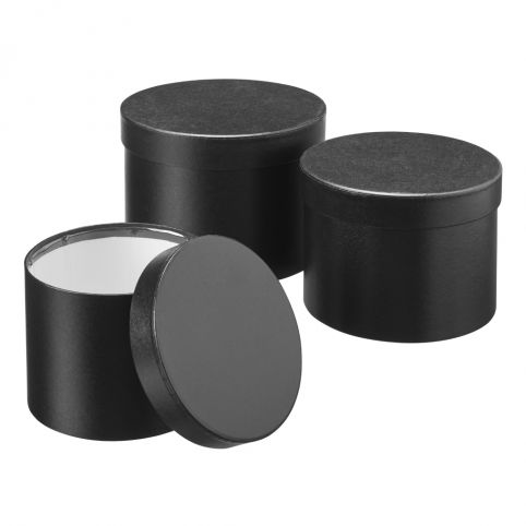 Symphony Black Lined Hat Boxes (Set of 3)