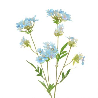 Artificial Mini Wild Flower Spray Blue