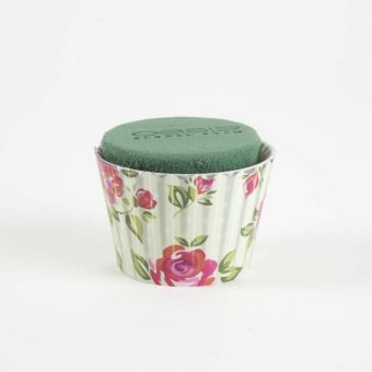 OASIS® Ideal Floral Foam Maxlife Cupcakes - Mint Large Rose - 8cm (Pack of 6)
