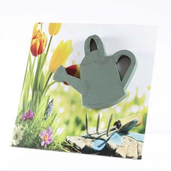 OASIS® Ideal Floral Foam Maxlife on FototFloral Display Board Watering Can - 59x59cm