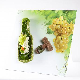 OASIS® Ideal Floral Foam Maxlife on FototFloral Display Board Wine Bottle & Cork - 59x59cm