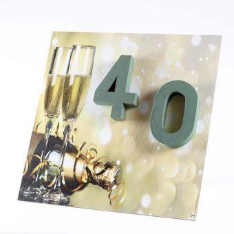 OASIS® Ideal Floral Foam Maxlife on FotoFloral Display Board 40 - 59x59cm