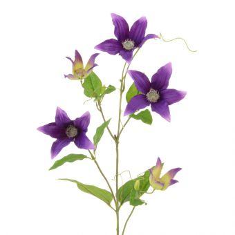 Artificial Clematis Spray Purple