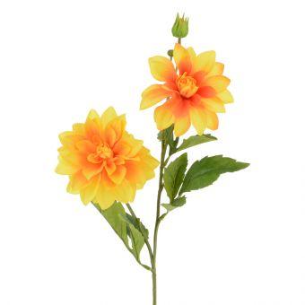 Artificial Dahlia Spray Orange