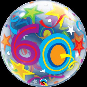 60 Happy Birthday Stars Balloon