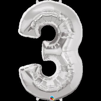 Number 3 Balloon