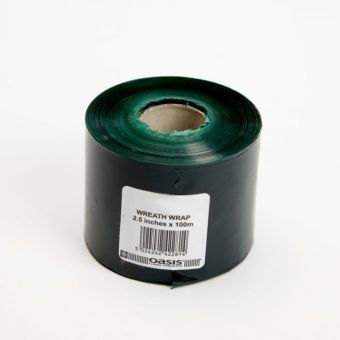Wreath Wrap - Green - 6.25cm x 100m (Pack of 15)