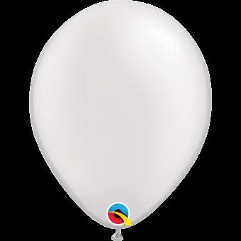 "Plain Pearl White 11"" Balloon"