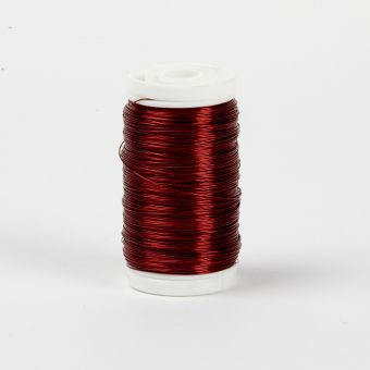 Myrtle Wire - Red -  0.3mm x 100g - approx 140m