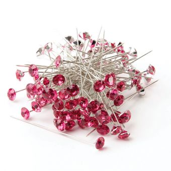 Sparkler Pins - Strong Pink - 60 x 8mm (Pack of 100)