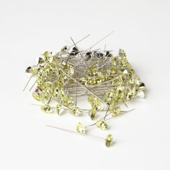 Sparkler Pins - Apple Green - 60mm x 12mm (Pack of 100)