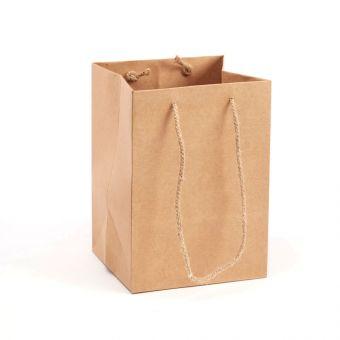 Handtied Porto Bag - Natural - 18x25cm (Pack of 10)