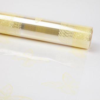 Printed Film Roll Butterflies - Ivory - 38 micron - 80cm x 100m