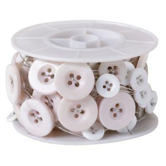 Button Wire - White - 3m