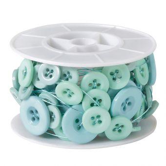 Button Wire - Aqua - 3m