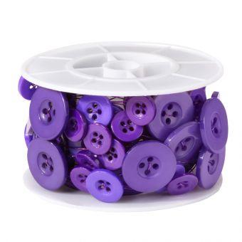 Button Wire - Purple - 3m