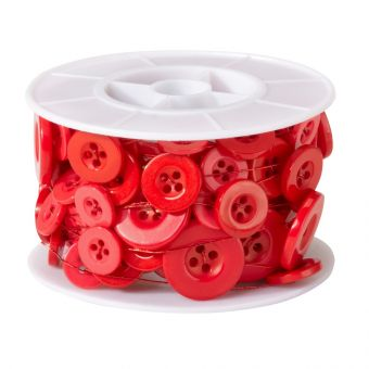 Button Wire - Red - 3m