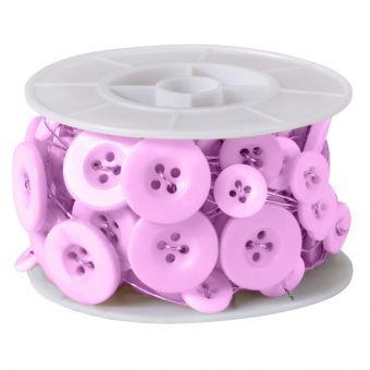 Button Wire - Pale Pink - 3m