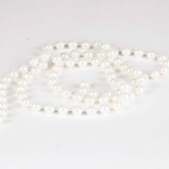 Pearl Bead Chain - White - 12mm x 3m