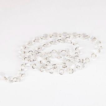 Crystal  Bead Chain - Clear - 14mm x 3m