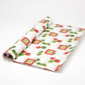 Modern Christmas Pattern Tissue Paper Sheets (Pack of 48)