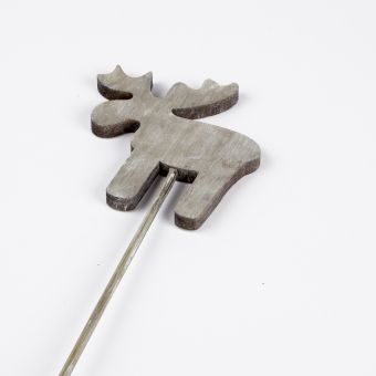 Wooden Moose Pick - Grey - 40cm x 10cm (Pack of 12)