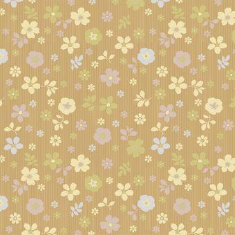 Autumn Scattered Flower Pattern Kraft Paper Roll 100m
