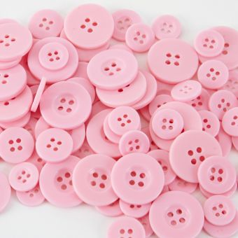 Buttons - Pale Pink (Pack of 100)