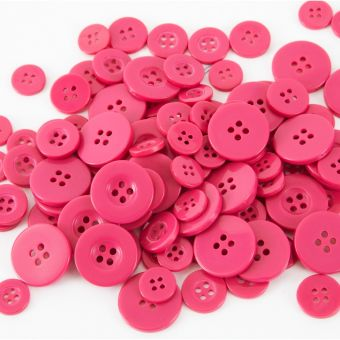 Buttons - Strong Pink (Pack of 100)