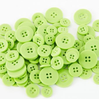 Buttons - Apple Green (Pack of 100)