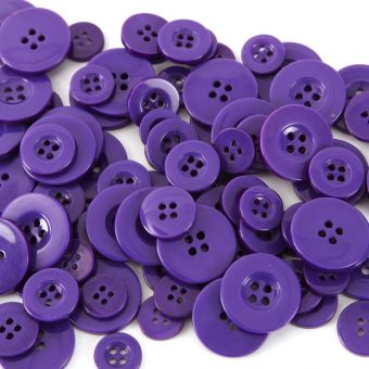 Buttons - Purple (Pack of 100)