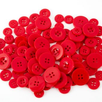 Buttons - Red (Pack of 100)