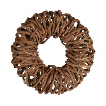Carrizo Wreath Brown 30cm
