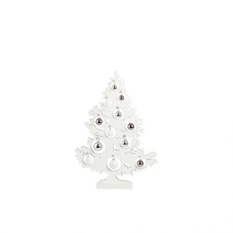 Olympus Tree with Baubles & LED Lights White 64cm