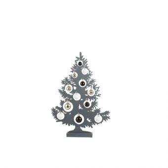 Olympus Tree with Baubles & LED Lights Anthracite 64cm