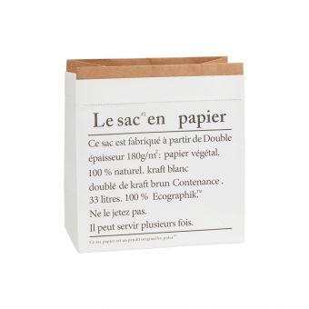 Script White Kraft Bag 22cm