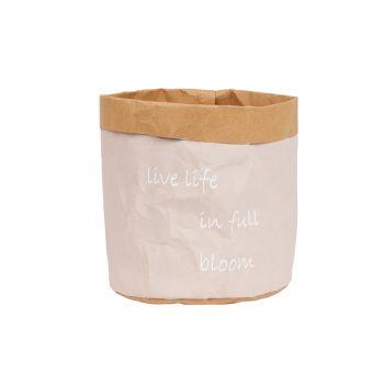 Live Life Pink Lined Bag 15cm