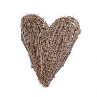 Grey Twig Heart 48cm