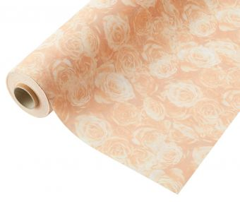 Compostable Wrap Rose Design - Peach