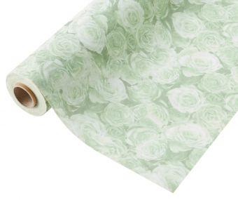 Compostable Wrap Rose Design - Green