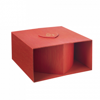 Oxford Lined Heart Box - Red