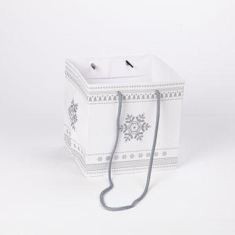 Small Porto Bag - Snowflake Silver - 18x20cm (Pack of 10)