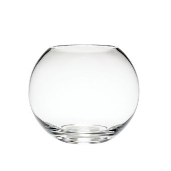 Handmade Glass Fishbowl - Clear - 10cm