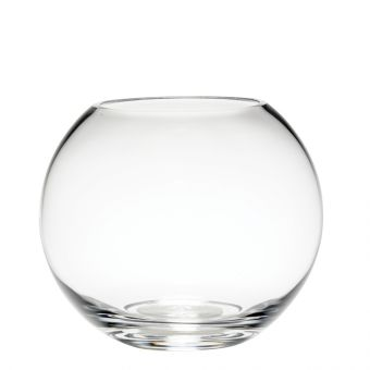 Glass Fishbowl Handmade - Clear - 15cm