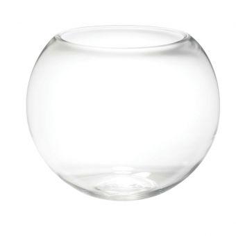 Glass Fishbowl Handmade - Clear - 25cm